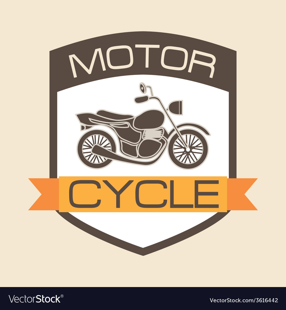 Motorcycle shield vector | Price: 1 Credit (USD $1)
