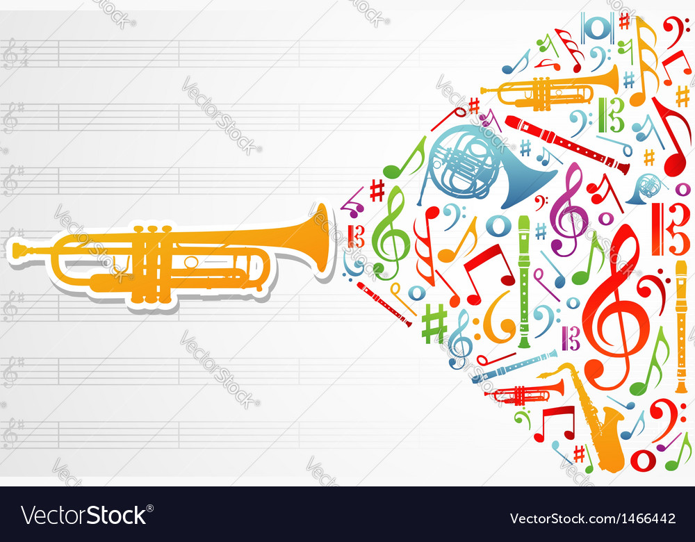 Music concept background vector | Price: 1 Credit (USD $1)
