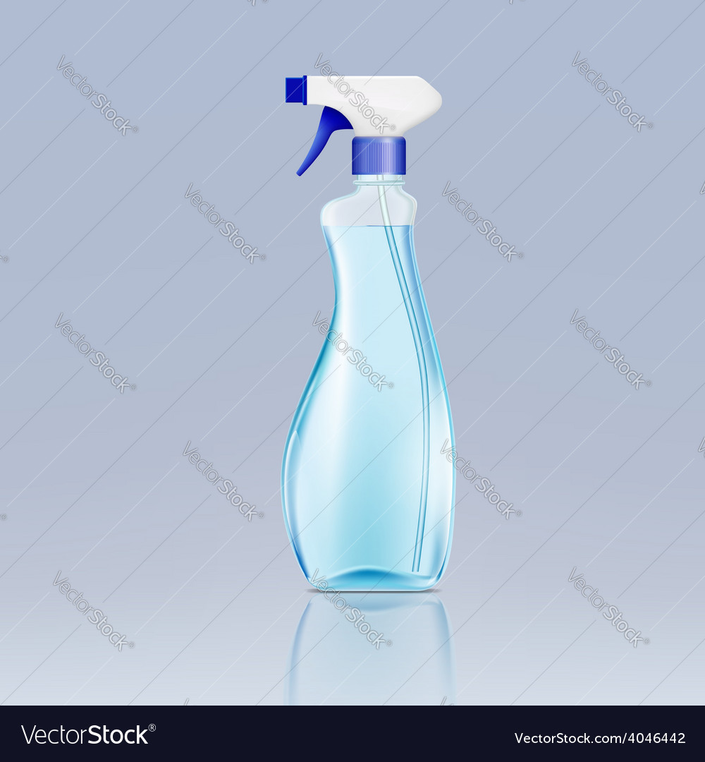 Plastic spray bottle with cleaning liquid vector | Price: 1 Credit (USD $1)