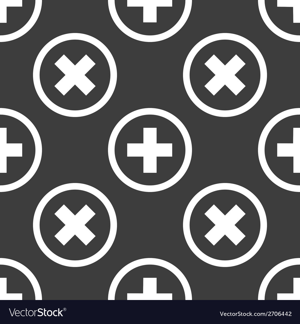 Plus web icon flat design seamless pattern vector | Price: 1 Credit (USD $1)