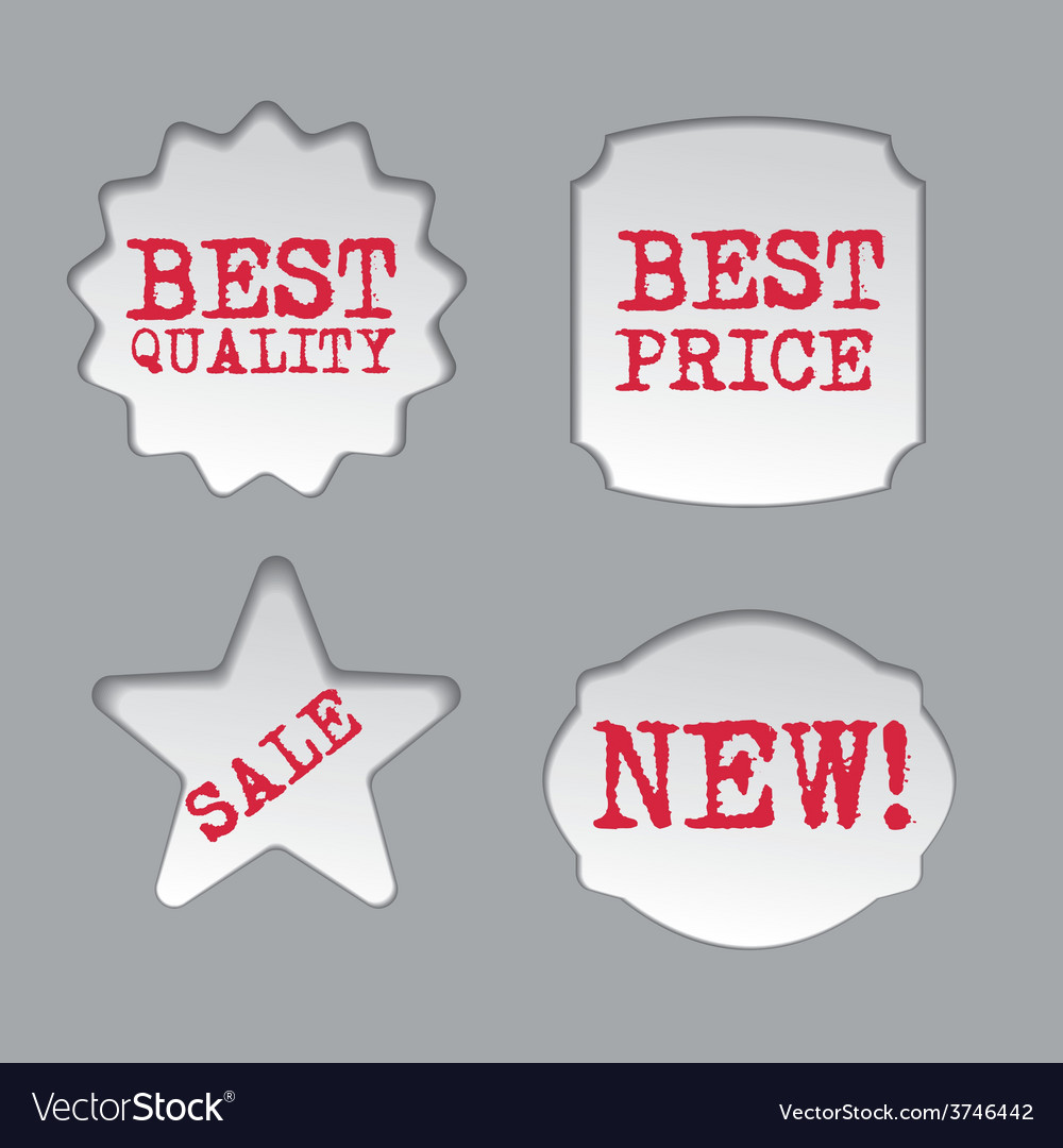 Promotion sale labels vector | Price: 1 Credit (USD $1)
