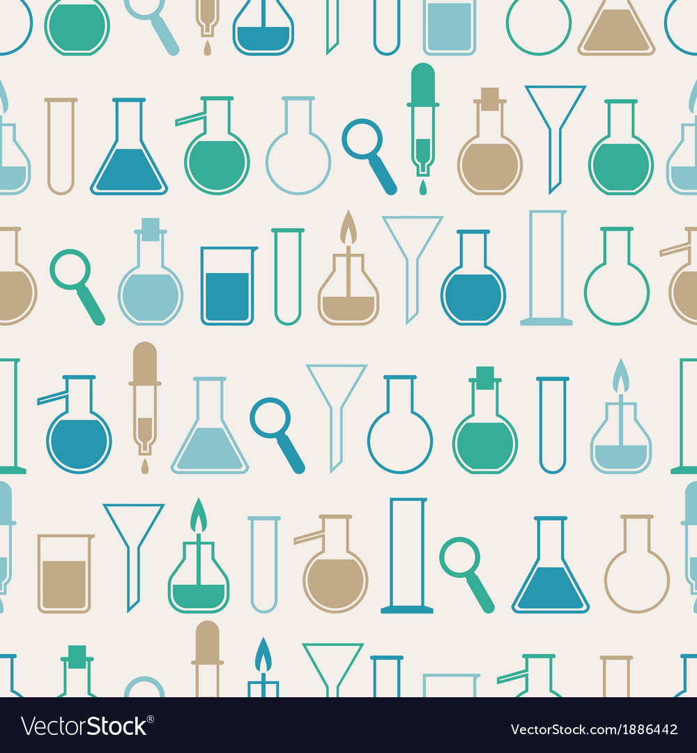 Seamless pattern with laboratory equipment vector | Price: 1 Credit (USD $1)
