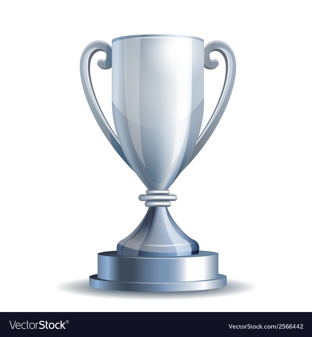Silver trophy cup vector | Price: 1 Credit (USD $1)