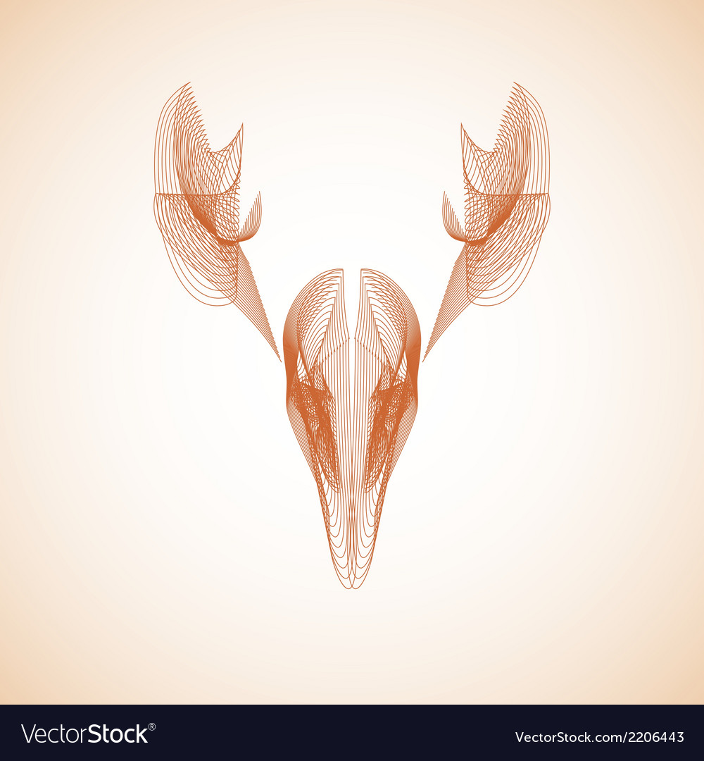 Abstract deer vector | Price: 1 Credit (USD $1)