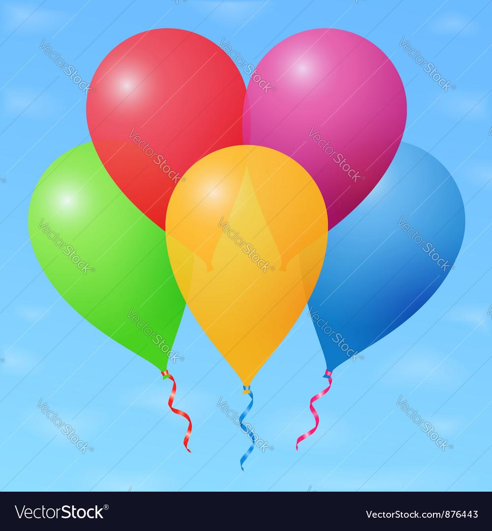 Balloons vector | Price: 1 Credit (USD $1)