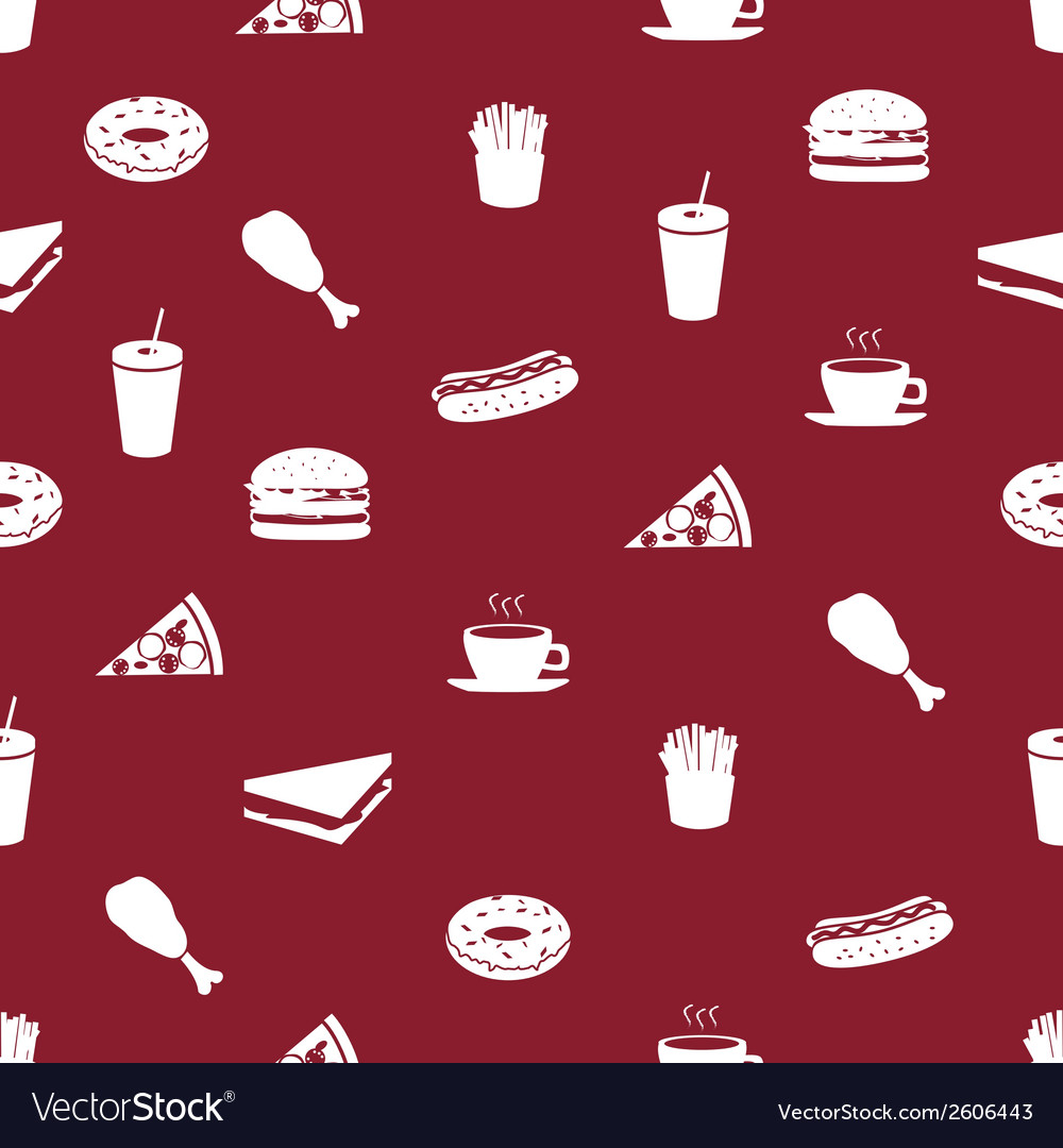 Fast food icons pattern eps10 vector   Price: 1 Credit (USD $1)