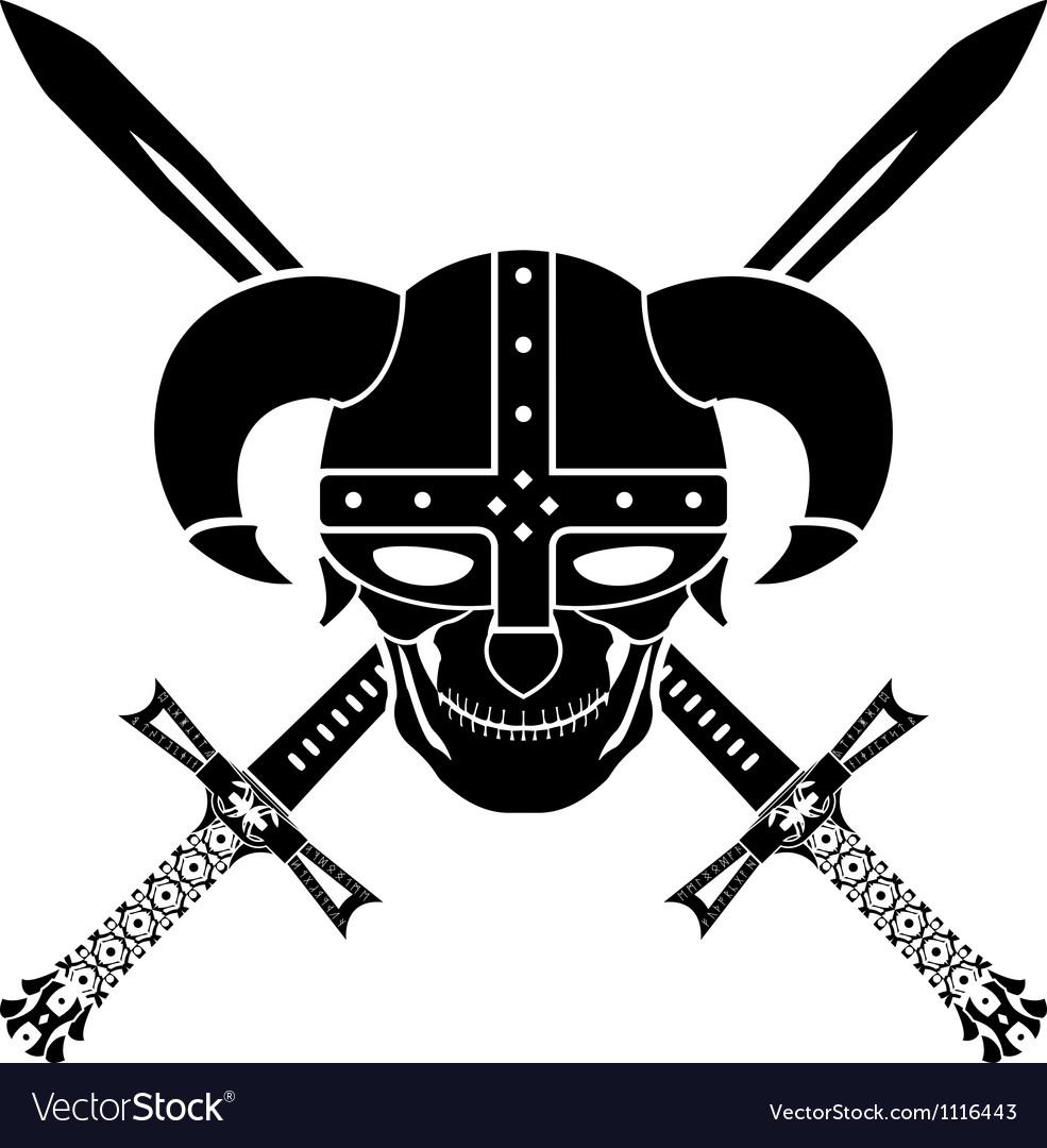 Helmet and swords of fantasy warrior second vector   Price: 1 Credit (USD $1)