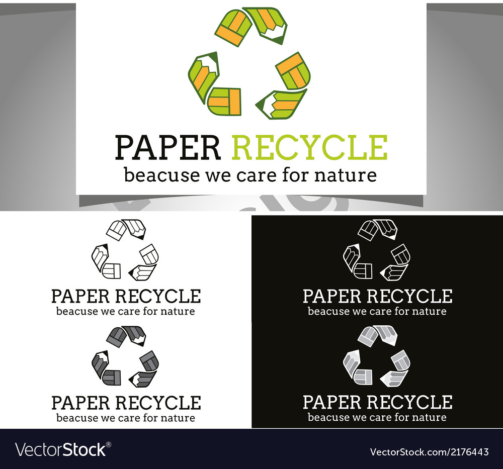 Paper recycle logo vector | Price: 1 Credit (USD $1)