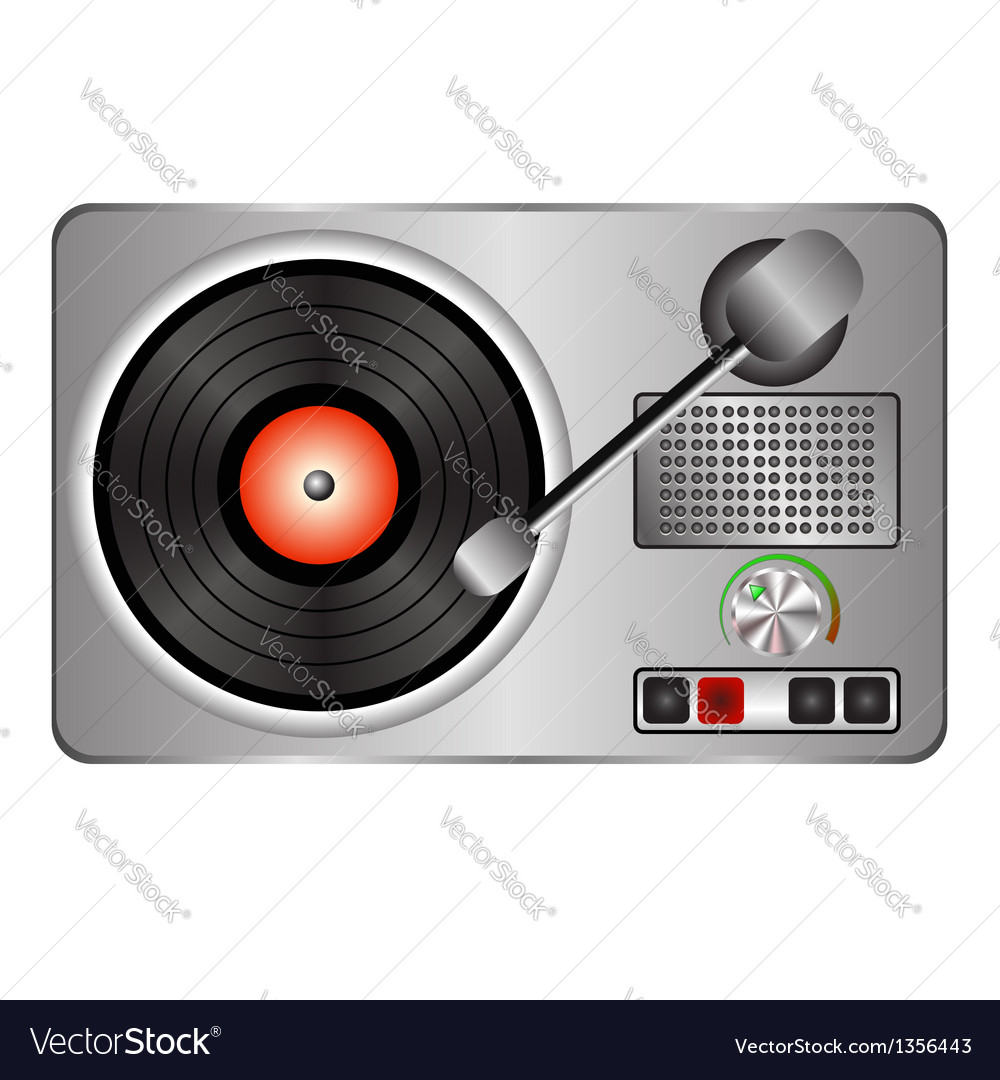Record player vector | Price: 1 Credit (USD $1)