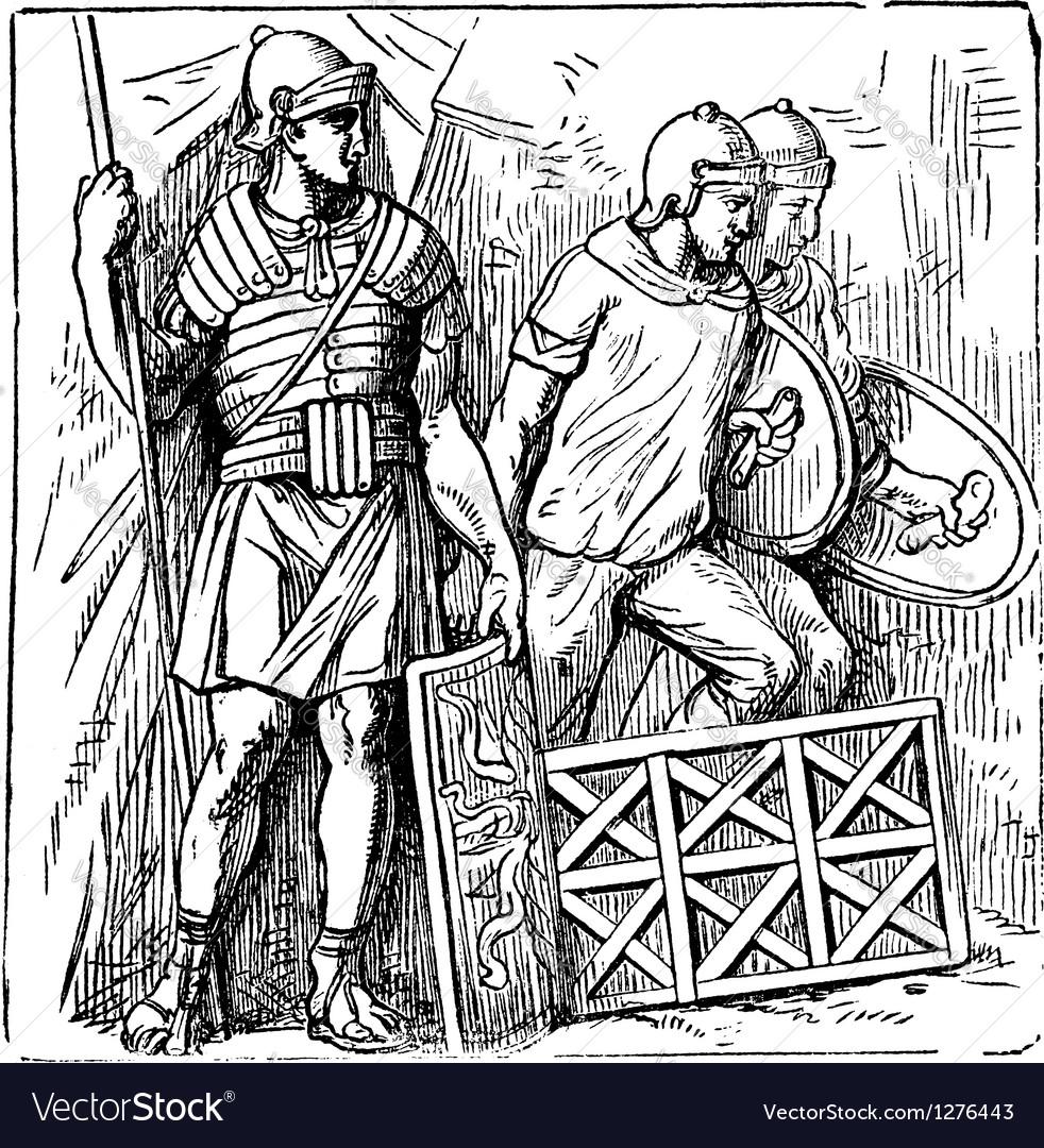 Roman segmented armors vector | Price: 1 Credit (USD $1)