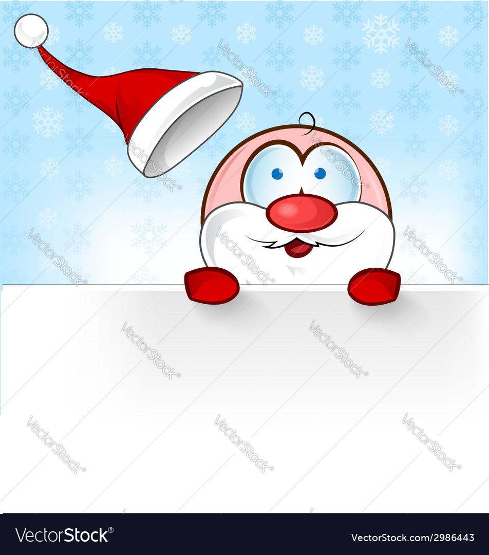 Santa claus cartoon with banner vector | Price: 1 Credit (USD $1)