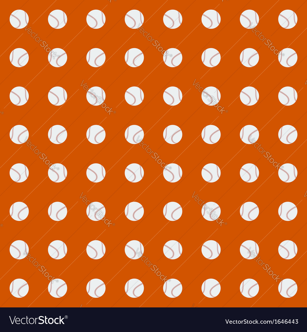 Seamless pattern with baseball balls vector | Price: 1 Credit (USD $1)