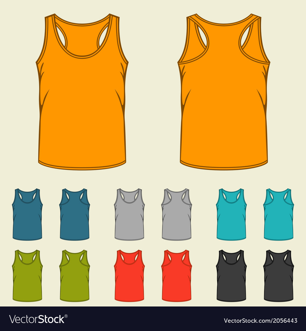 Set of templates colored singlets for men vector | Price: 1 Credit (USD $1)
