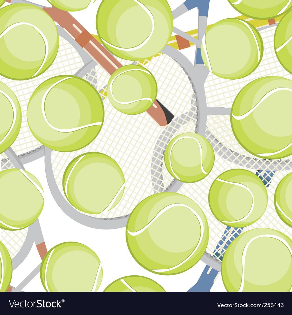 Tennis balls pattern vector | Price: 1 Credit (USD $1)