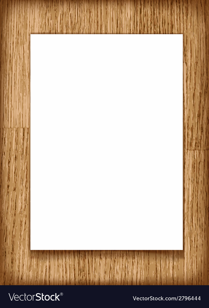 Blank paper a4 sheet on wooden background vector | Price: 1 Credit (USD $1)