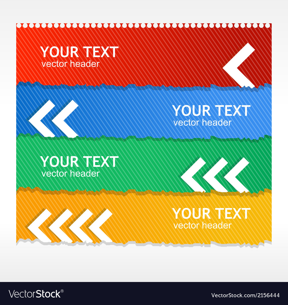 Colorful text boxes vector | Price: 1 Credit (USD $1)