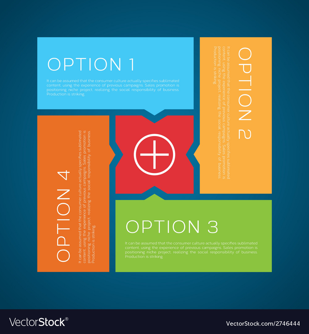 Flat style options background vector | Price: 1 Credit (USD $1)