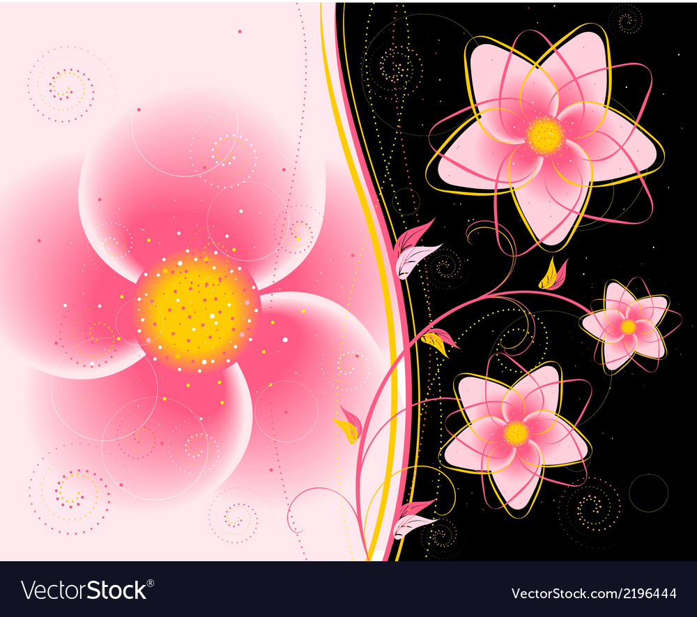 Floral ornament on a black background vector | Price: 1 Credit (USD $1)