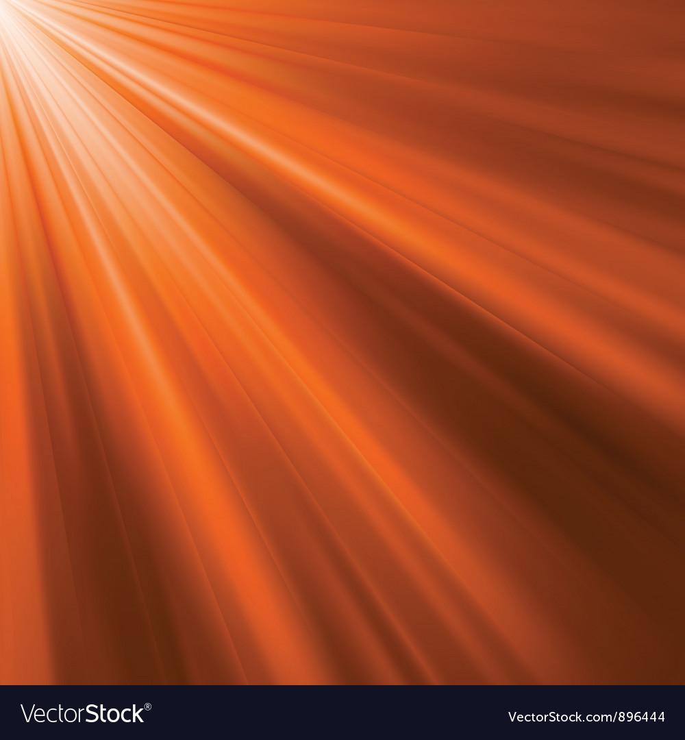 Orange luminous rays vector | Price: 1 Credit (USD $1)