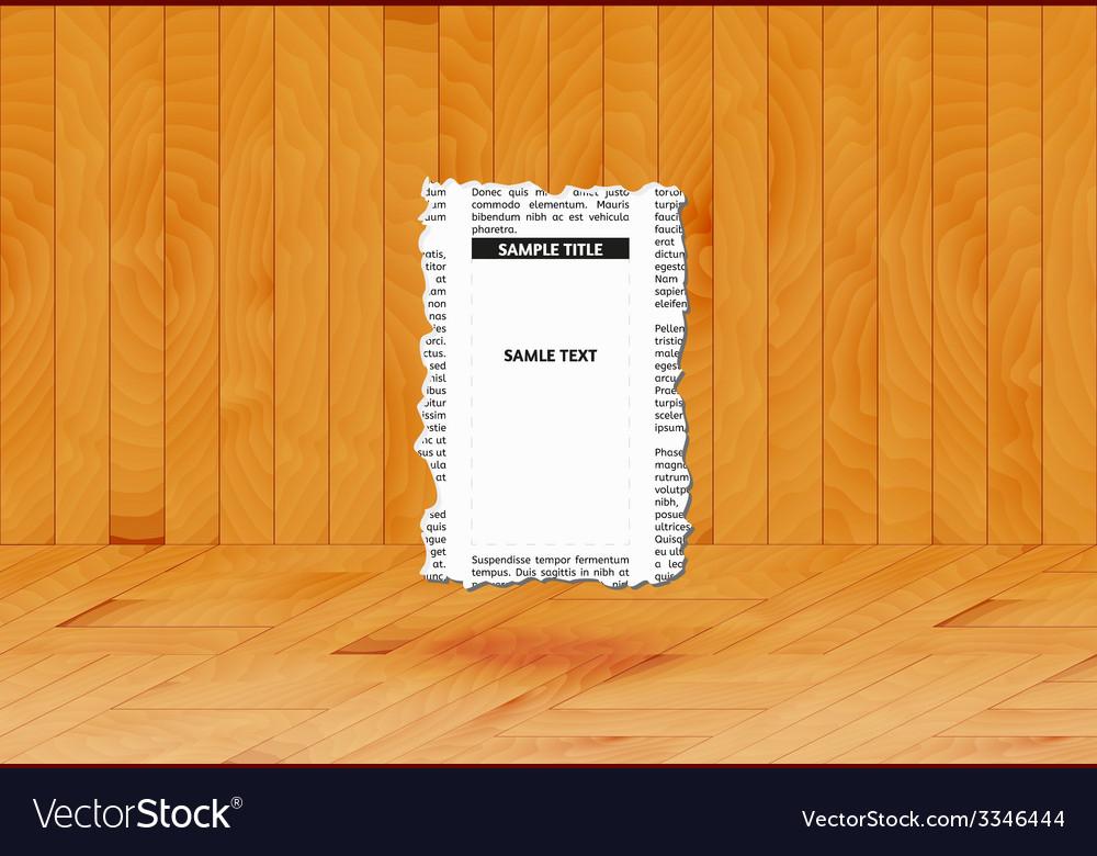 Piece of newspaper vector | Price: 1 Credit (USD $1)