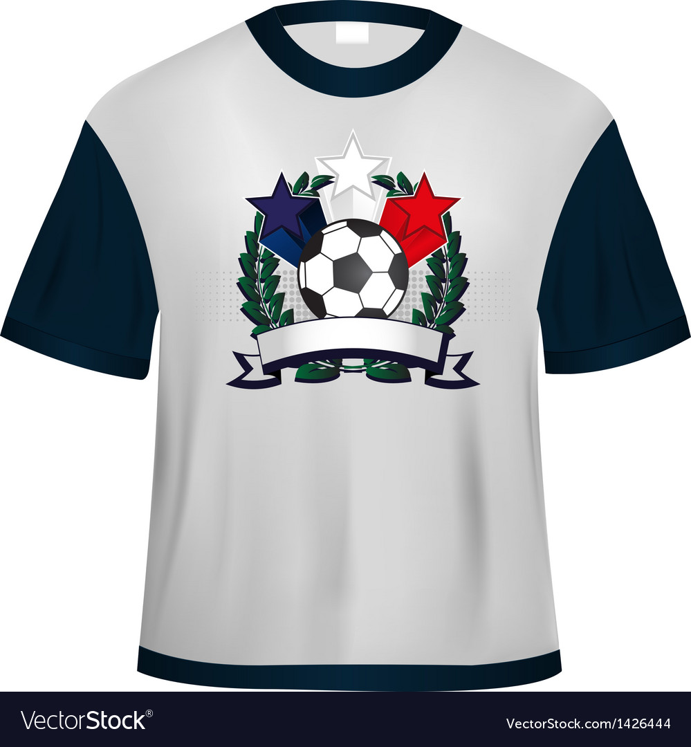 Soccer t shirt vector | Price: 1 Credit (USD $1)