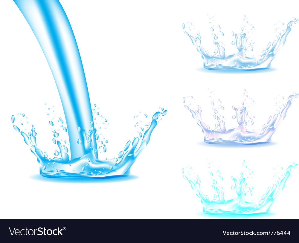 Water splash vector | Price: 3 Credit (USD $3)