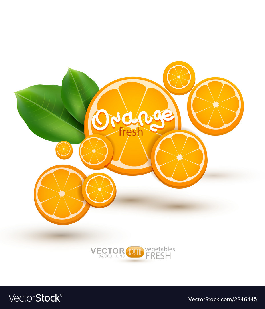 Background with oranges vector | Price: 1 Credit (USD $1)