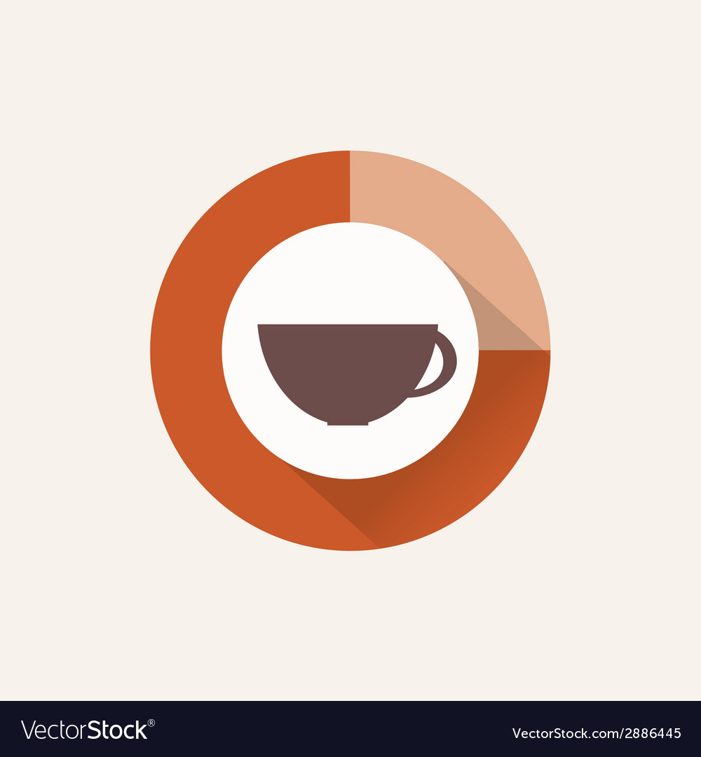 Coffee time flat design vector | Price: 1 Credit (USD $1)