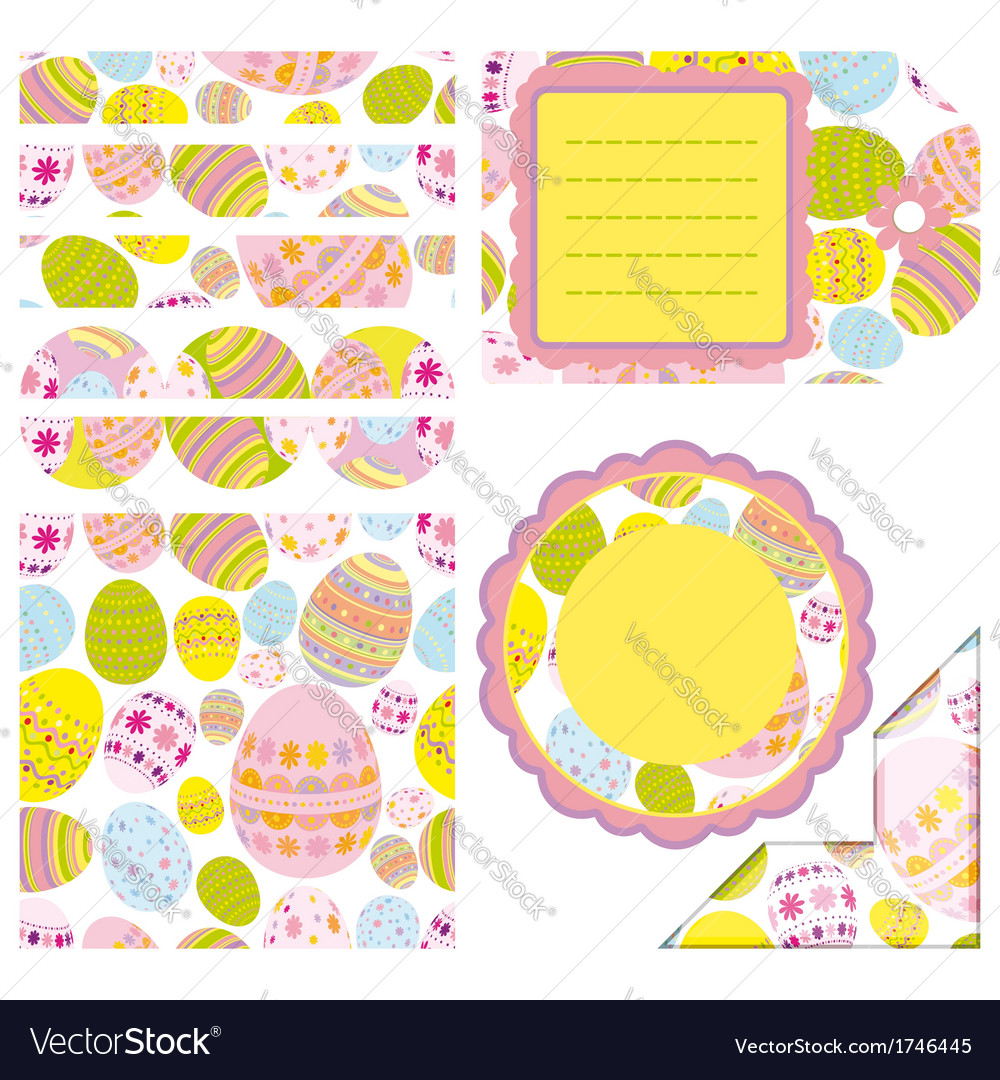 Easter set of design elements vector | Price: 1 Credit (USD $1)