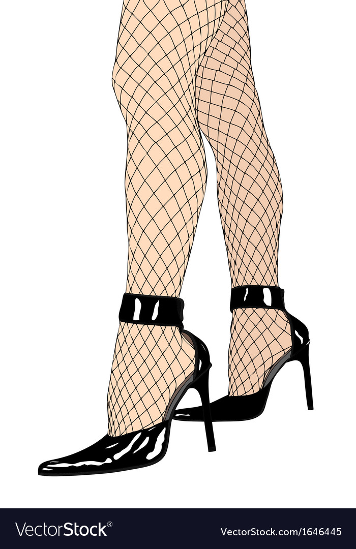 Fishnet stockings and high heels vector | Price: 1 Credit (USD $1)