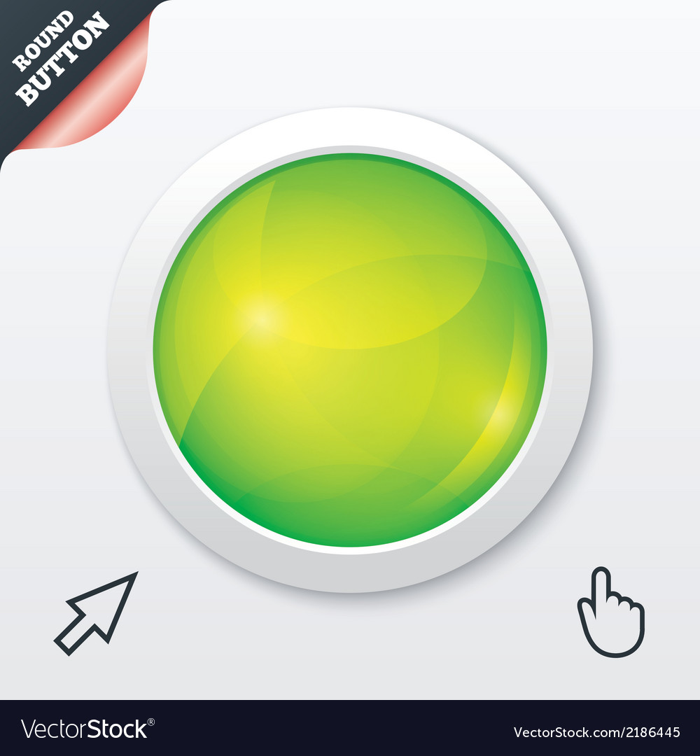 Glass button green shiny round symbol circle vector | Price: 1 Credit (USD $1)