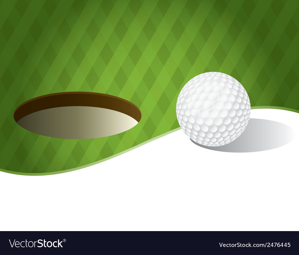 Golf ball with copyspace vector | Price: 1 Credit (USD $1)