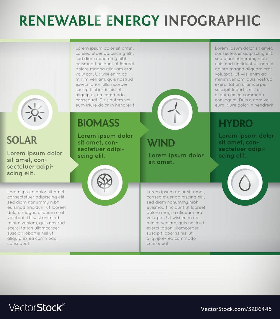 Infographic renewable vector   Price: 1 Credit (USD $1)