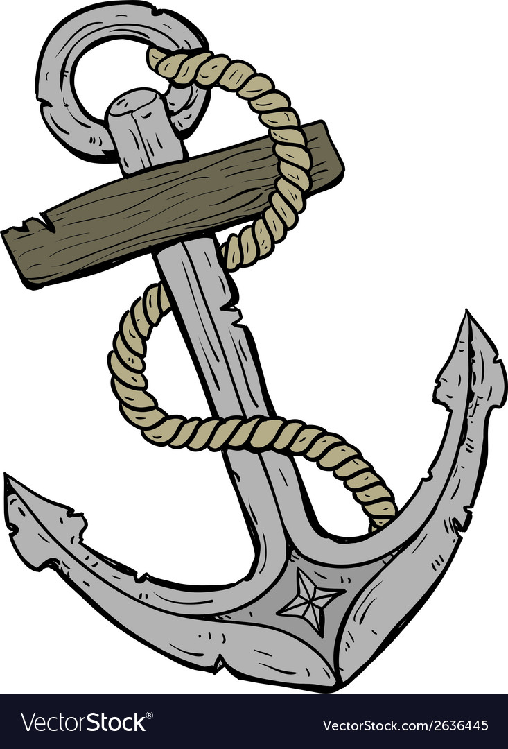 Marine theme anchor vector | Price: 1 Credit (USD $1)