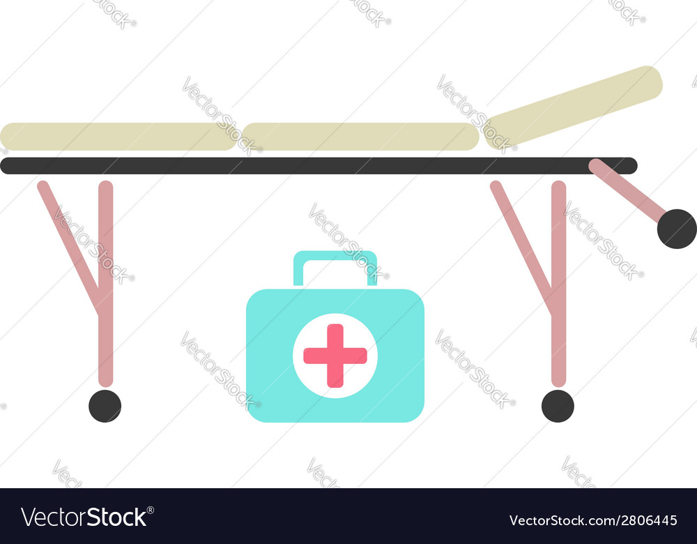 Medical trolley and suitcase vector | Price: 1 Credit (USD $1)