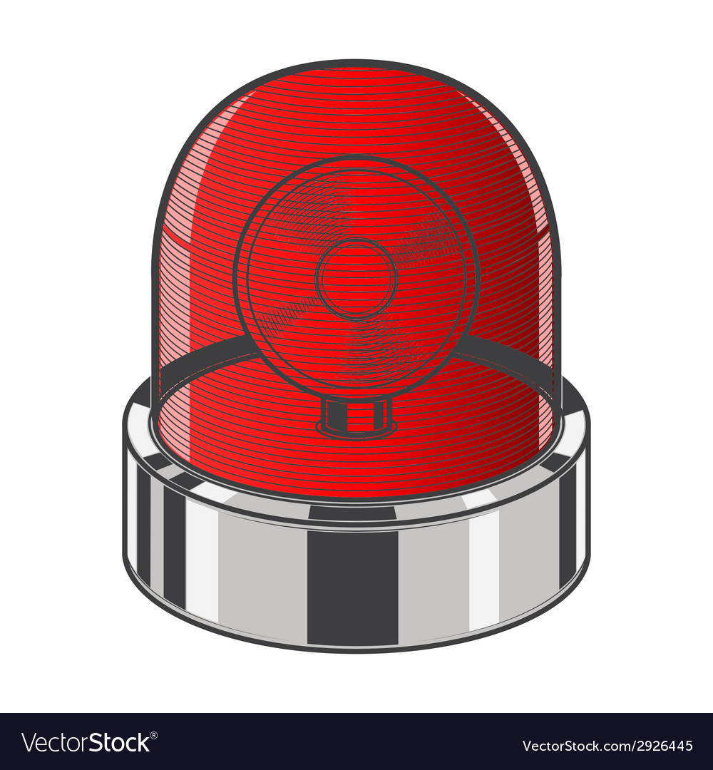 Red emergency siren vector | Price: 1 Credit (USD $1)