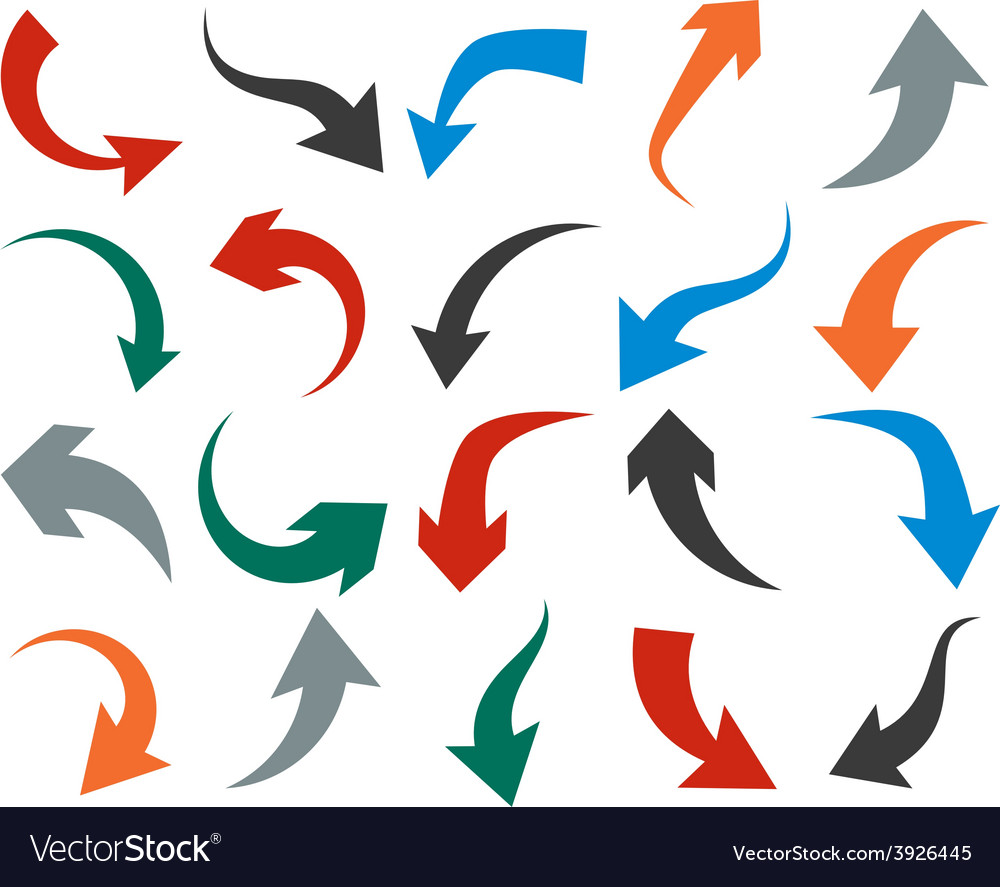 Set of arrow icons vector | Price: 1 Credit (USD $1)