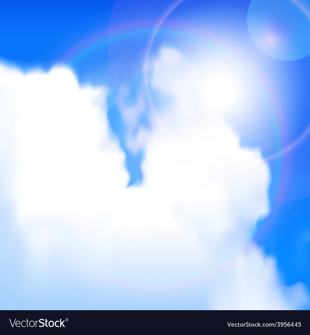 Sun shines vector | Price: 1 Credit (USD $1)