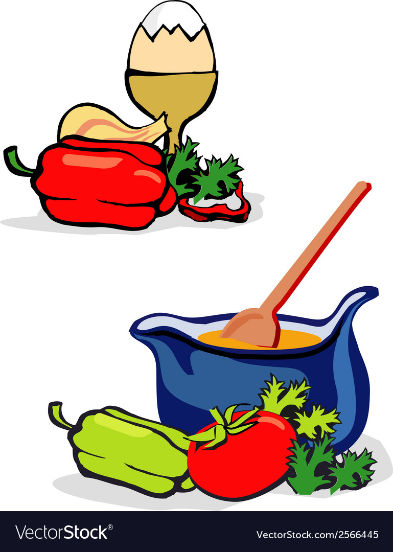 Vegetables egg cooking vector | Price: 1 Credit (USD $1)