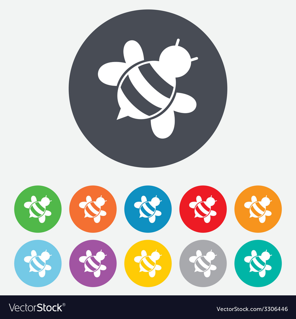 Bee sign icon honeybee or apis symbol vector   Price: 1 Credit (USD $1)