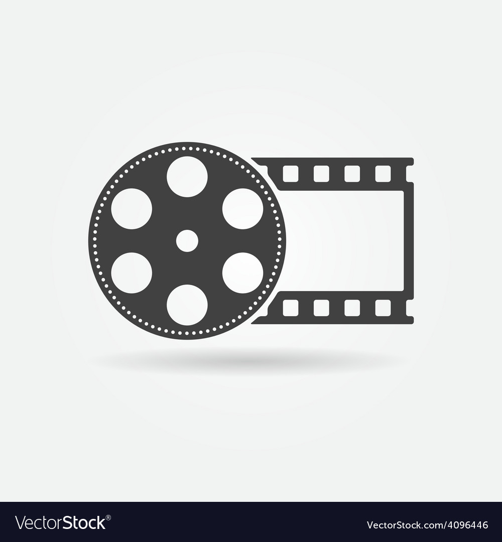 Black film roll logo or icon vector | Price: 1 Credit (USD $1)