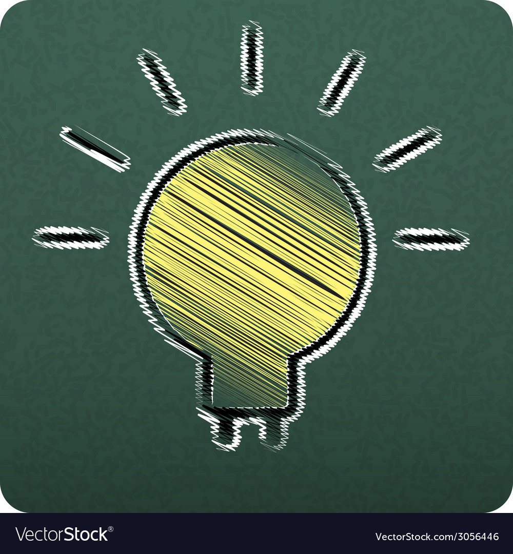 Bulbs empty realistic black board in format vector | Price: 1 Credit (USD $1)