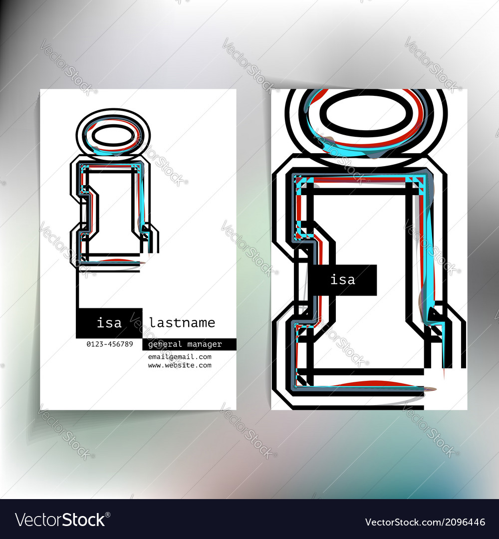Business card design with letter i vector   Price: 1 Credit (USD $1)