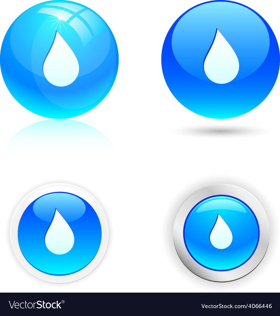 Drop icons vector | Price: 1 Credit (USD $1)