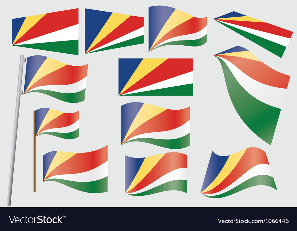 Flag of seychelles vector | Price: 1 Credit (USD $1)