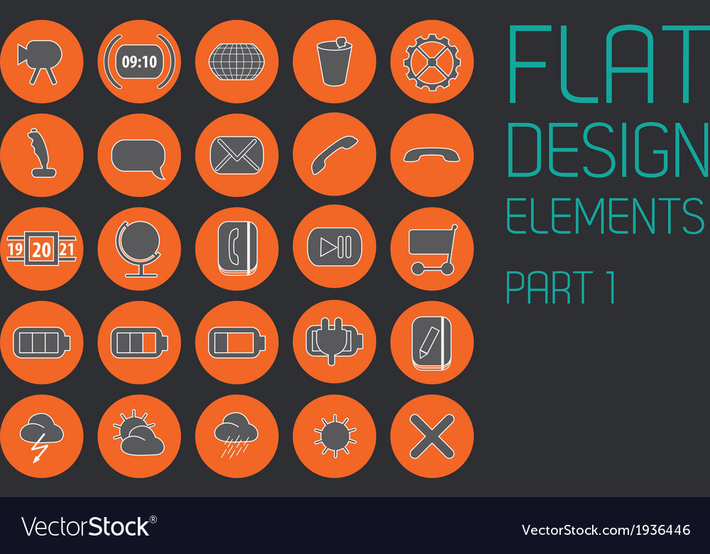 Flat design template - vector | Price: 1 Credit (USD $1)