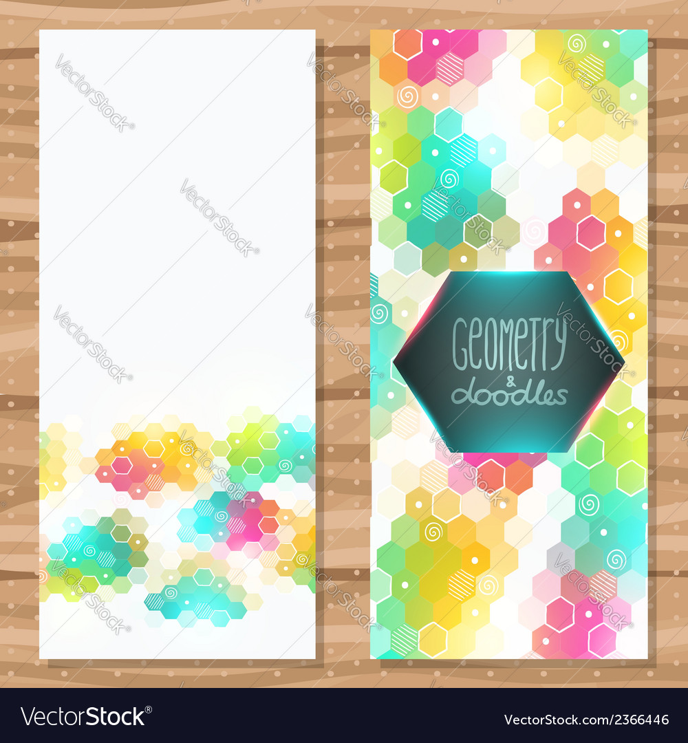 Geometric pentagon brochure template vector | Price: 1 Credit (USD $1)