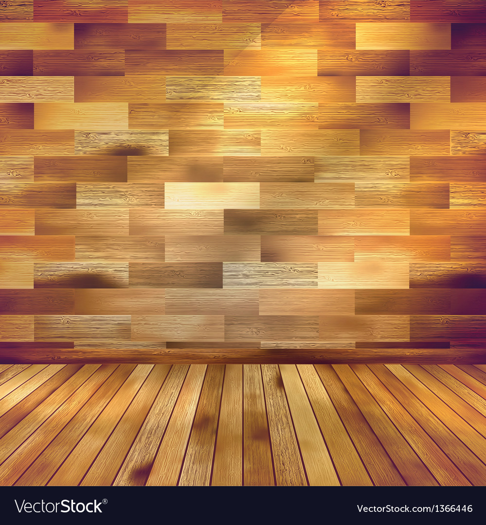 Old wooden interior room with a shelfs eps 10 vector | Price: 1 Credit (USD $1)