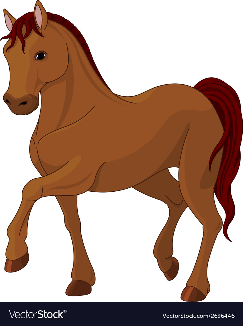 Purebred horse vector | Price: 1 Credit (USD $1)