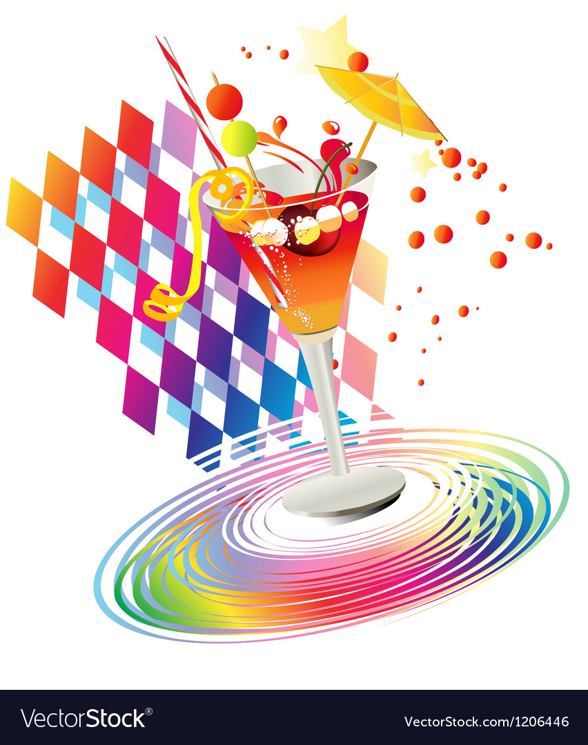 Rainbow party drinks vector | Price: 1 Credit (USD $1)